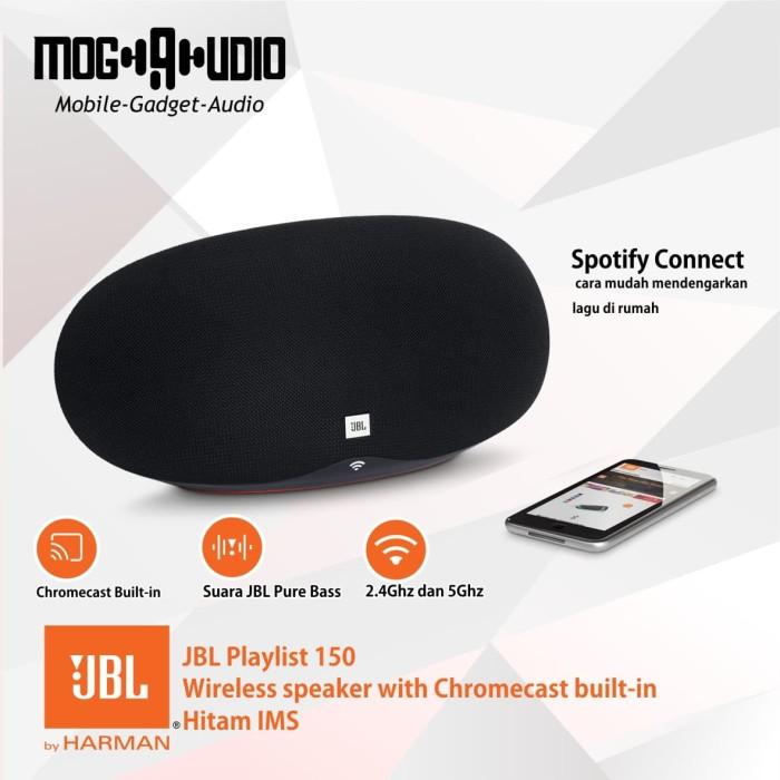 harga Jbl playlist 150 wireless speaker with chromecast built-in hitam ims Tokopedia.com