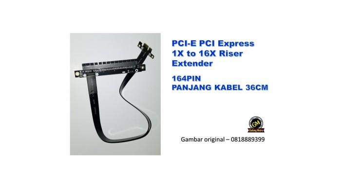 Foto Produk PCI-E PCI Express 16X to 1X Riser Extender TERMURAH dari Gudang Metro JKT