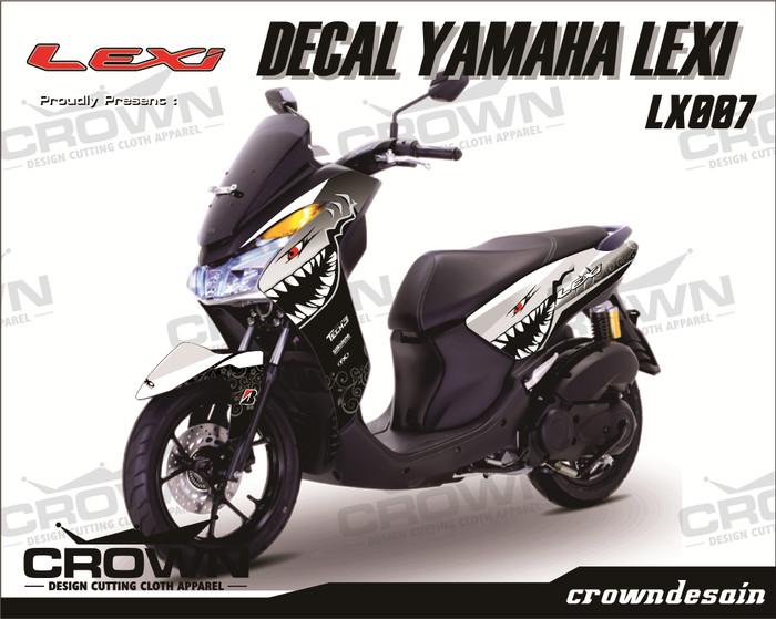 Foto Produk Sticker Decal YAMAHA LEXI - WHITE Shark dari crown desain