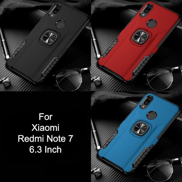 Calandiva Hard Case Xiaomi Redmi Note 7 Pro Casing Ring Thunder