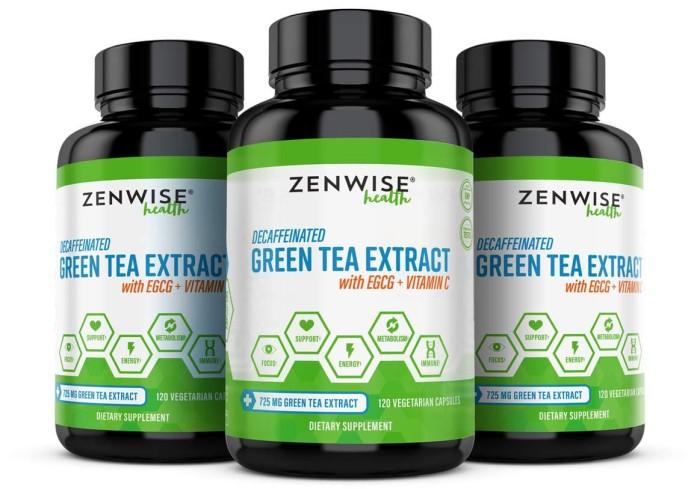 Foto Produk Suplemen Ekstrak Green Tea + EGCG + VIT C 120 Kapsul Obat Diet + Detox dari Ponyoko Shop