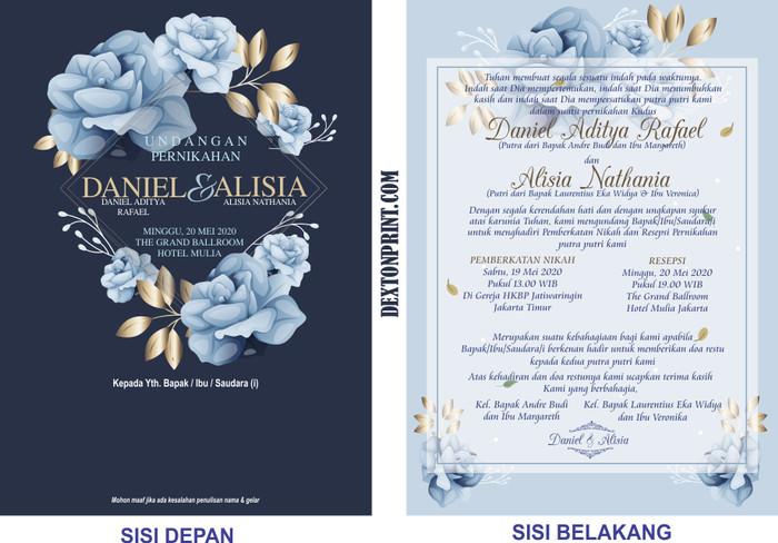 Jual Undangan Pernikahan Kristen Royal Rose Min 50 Pcs Dki Jakarta Dextonprint Tokopedia