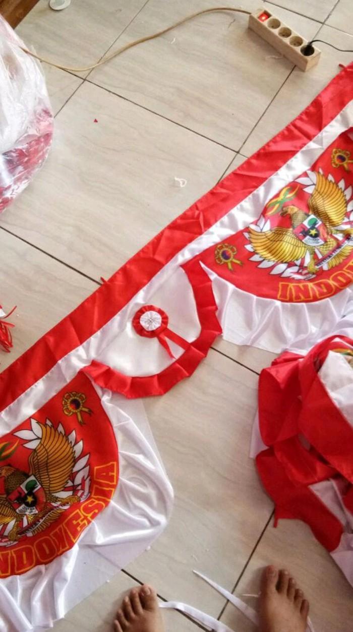 Jual Bendera Merah Putih Background Padi Kapas Jakarta Pusat Nandall