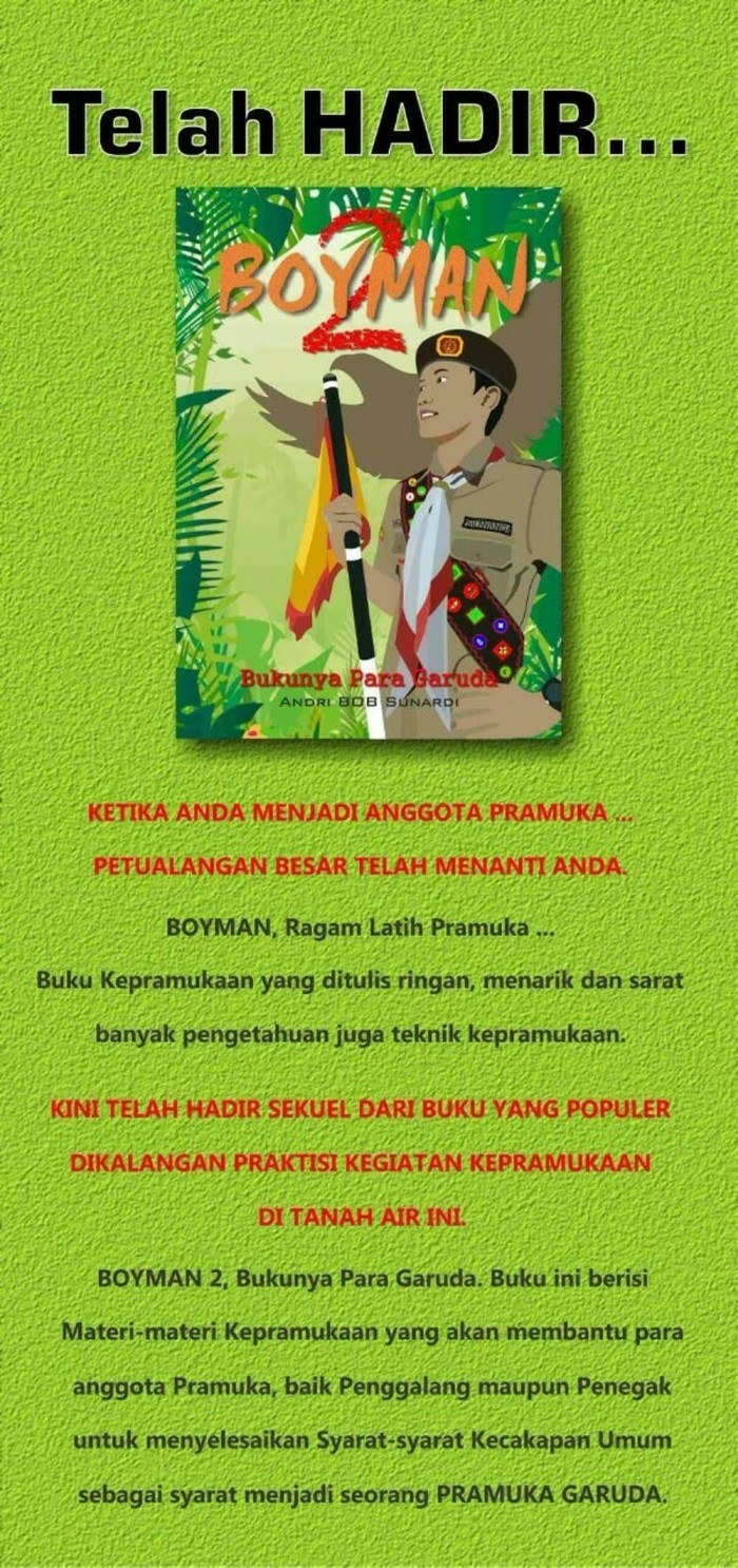 Jual DISKON Buku Pramuka Boyman 2 Jakarta Selatan Jumashop028