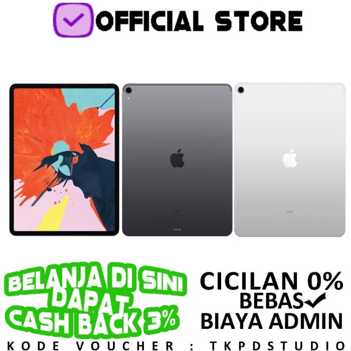 harga Apple ipad pro 12.9  2018 4g wifi + cellular 256gb 256 garansi 1 tahun - silver Tokopedia.com