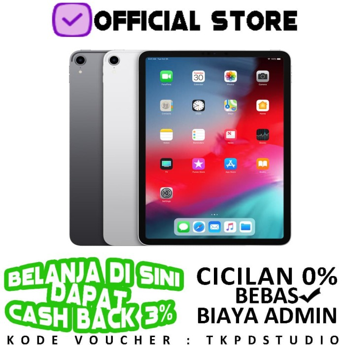 harga Apple ipad pro 11  2018 4g wifi + cellular 64gb 64 garansi 1 tahun - space grey Tokopedia.com