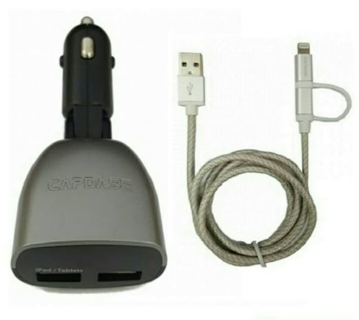 harga Capdase charger monitor t2 sync and cable 1m with lightning to micro Tokopedia.com