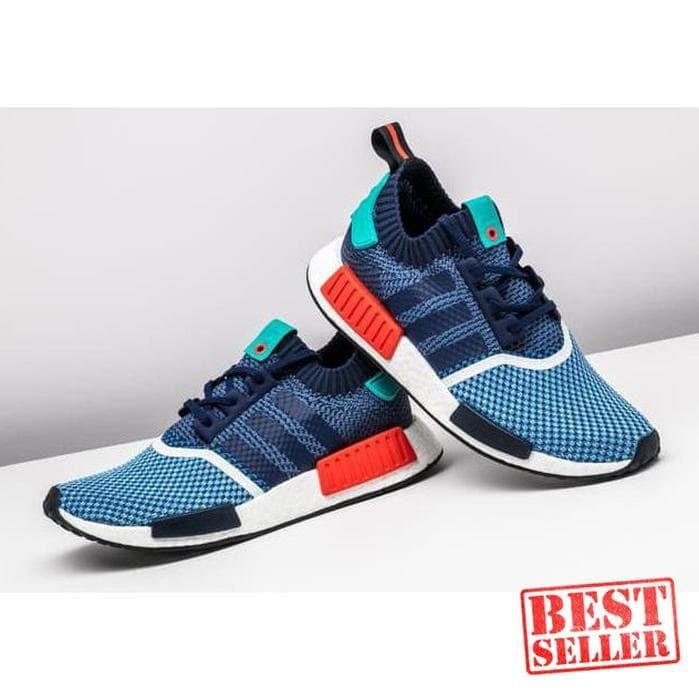 9e2b8aee3 Jual Termurah - Adidas Nmd R1 Primeknit X Packer Blue Perfect Kick ...