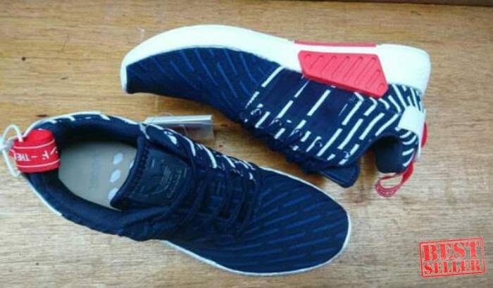 ec8283cb0 Jual ADIDAS NMD R2 PK PRIMEKNIT NAVY WHITE RED ART BB2952 ORIGINAL ...