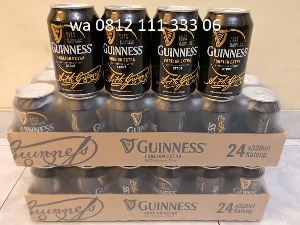harga Bir Guinness Hitam Kaleng 320ml x12 Tokopedia.com