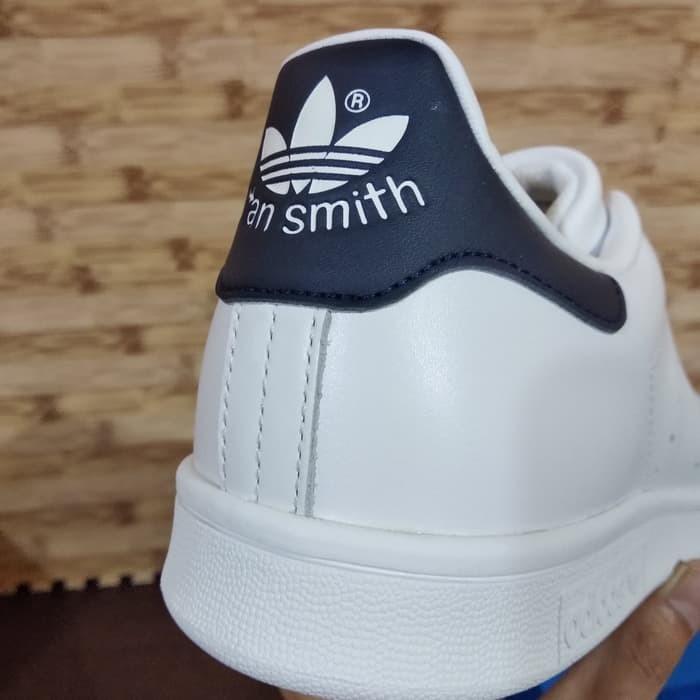 Jual Adidas Stan Smith White Navy Biru Original Ori Bnib