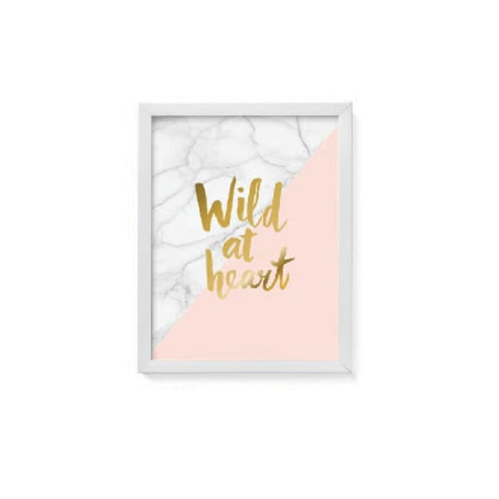 harga Jysk scandia wall decoration 28x36cm pink gold white frame Tokopedia.com