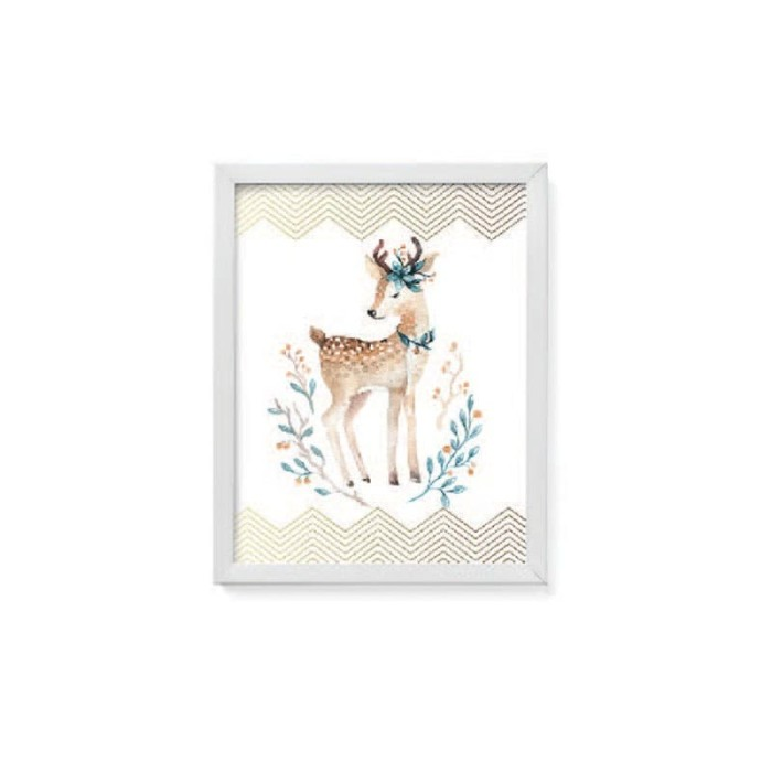 harga Jysk scandia wall decoration 28x36cm deer white frame Tokopedia.com