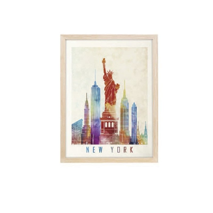 harga Jysk scandia wall decoration 30x40cm new york mdf frame Tokopedia.com