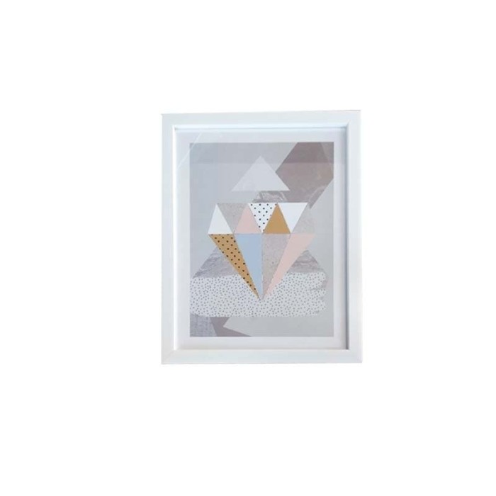 harga Jysk scandia wall decoration 28x36cm abstract white frame Tokopedia.com