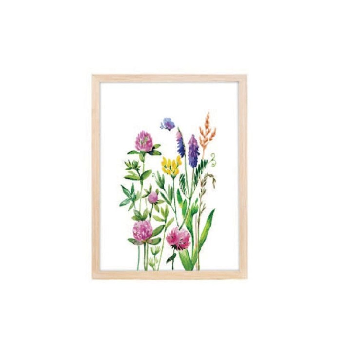 harga Jysk scandia wall decoration 30x40cm floral mdf frame Tokopedia.com