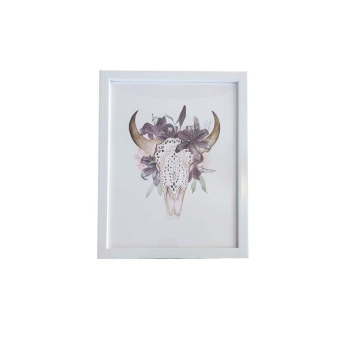 harga Jysk scandia wall decoration 28x36cm head white frame Tokopedia.com