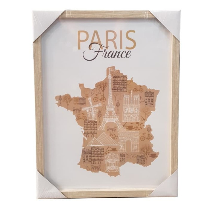 harga Jysk wall decoration 27x35cm france mdf frame Tokopedia.com