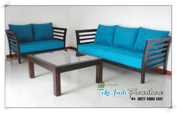 Jual Kursi Minimalis Sofa Ruang Tamu Kayu Jati Toko Indo Furniture