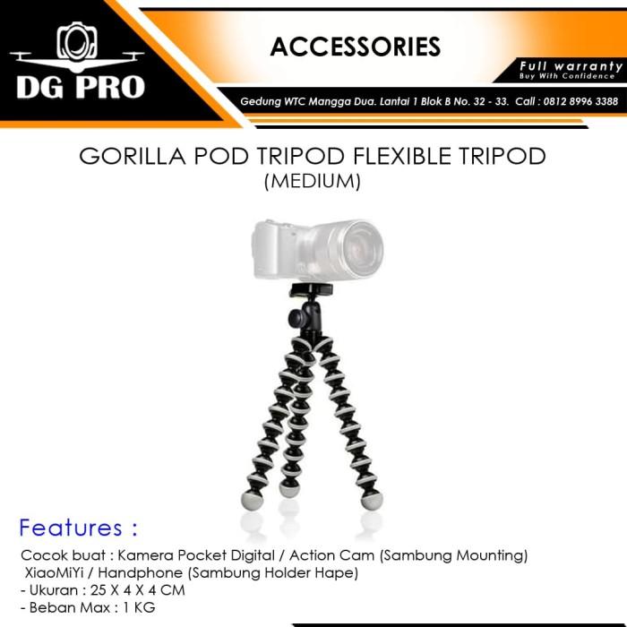 harga Gorilla pod tripod flexible tripod (medium) Tokopedia.com