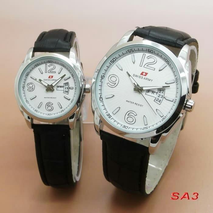 Foto Produk Swiss Army New Edition Couple Jam Tangan Pria Wanita Tali Kulit dari Leon Watch