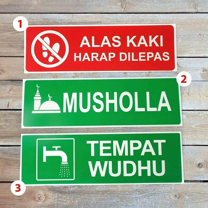Foto Produk sign board tempat wudhu alas kaki di buka dari rumasa