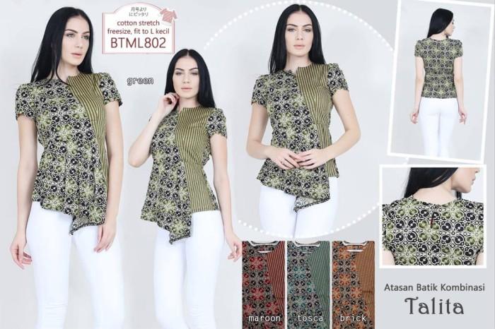 Jual Talita Peplum Batik Top Blouse Batik Modern Wanita Atasan