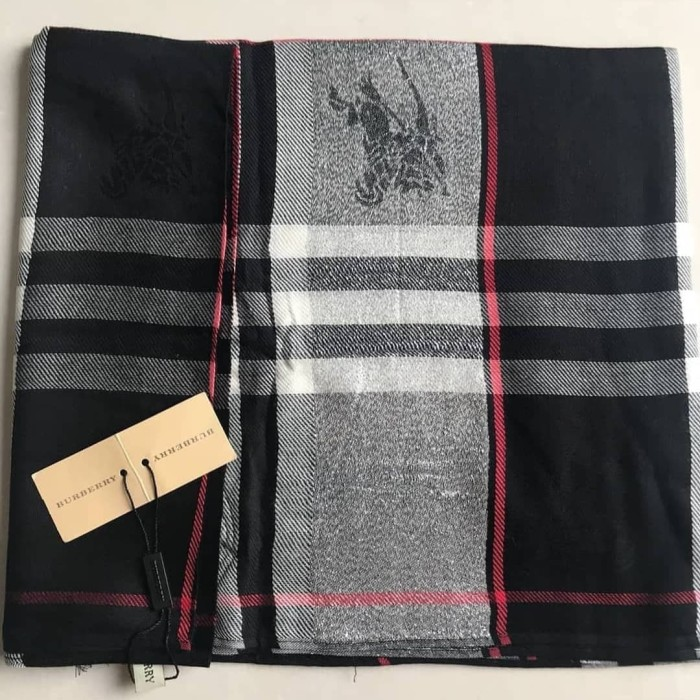 Jual BURBERRY GLITTER PASHMINA SHAWL SYAL SCARF BRANDED IMPORT ... 6a2cf22766