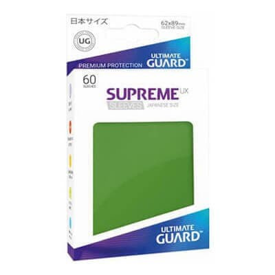 60 ULTIMATE GUARD SUPREME SOLID GREEN JAPANESE Card SLEEVES Small Size Vanguard