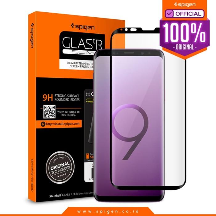 Foto Produk Spigen Galaxy S9 Plus Tempered Glass GLAS.tR Curved HD (1Pack) - Black dari Spigen Official