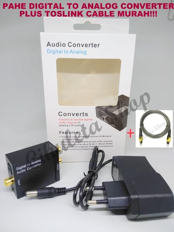 Foto Produk PAKET Digital Analog Audio Converter + Kabel Toslink dari Cikuleta