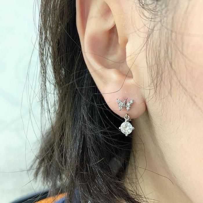harga Moissanite butterfly earring Tokopedia.com
