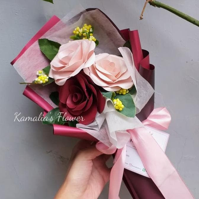 Jual Hot Sale Mini Paper Flower Bouquet Standard Wrap Terjamin Dki Jakarta Fernandesmanurung69 Tokopedia