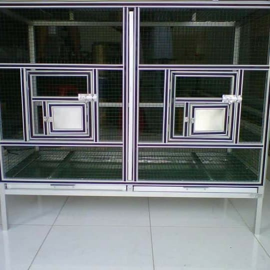 harga Kandang ternak lovebird 4 pintu / umbaran portable Tokopedia.com