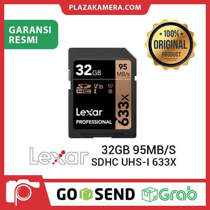 harga Memori lexar sdhc uhs-i 633x (95mbps) 32gb for sony a6000 canon Tokopedia.com