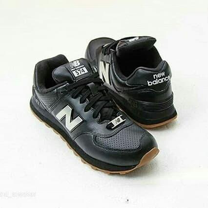 574 SneakerTokopedia Gum Jual New Balance Leather Black Dude Mind TlKF1Juc3