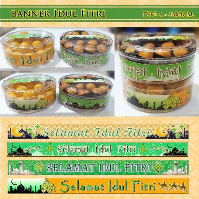Banner Idul Fitri Banner Toples Kue Kering Dll
