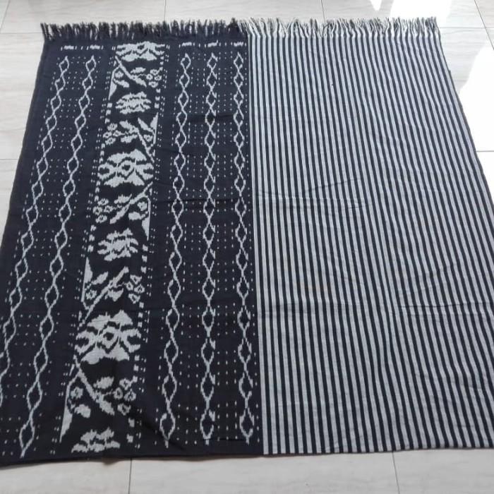 Jual kain tenun blanket halusan hitam putih mix lurik terbaru ...