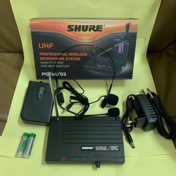 harga Mic headset + clip on wireless shure pgx 14/93 Tokopedia.com