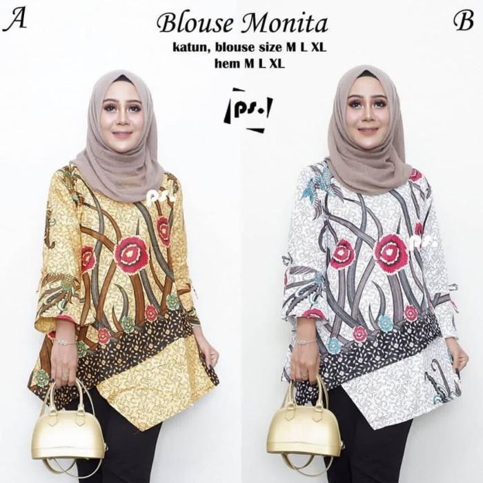 harga Blouse batik ilalang atasan batik wanita blus batik lonceng Tokopedia.com