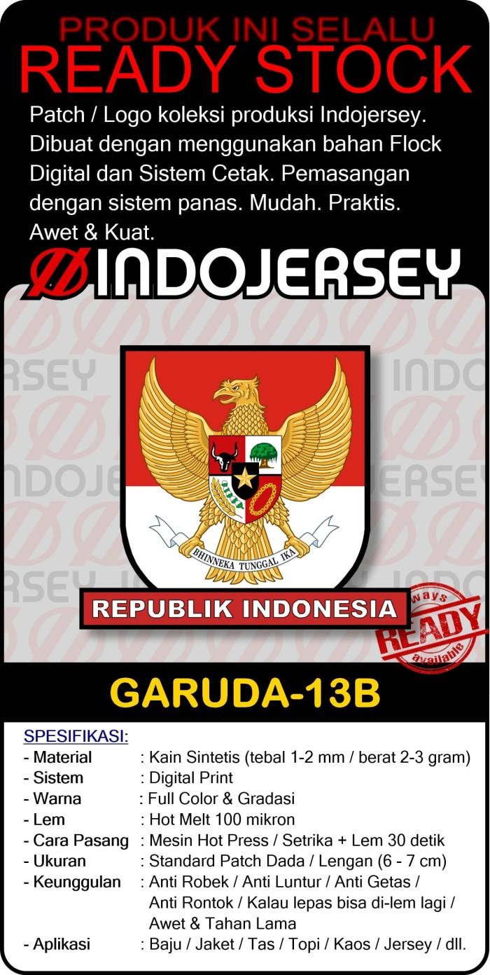 Jual Logo Setrika Flock Alternatif Bordir Woven GARUDA PANCASILA [13B] FLOCK STANDARD Jakarta Selatan Indojersey