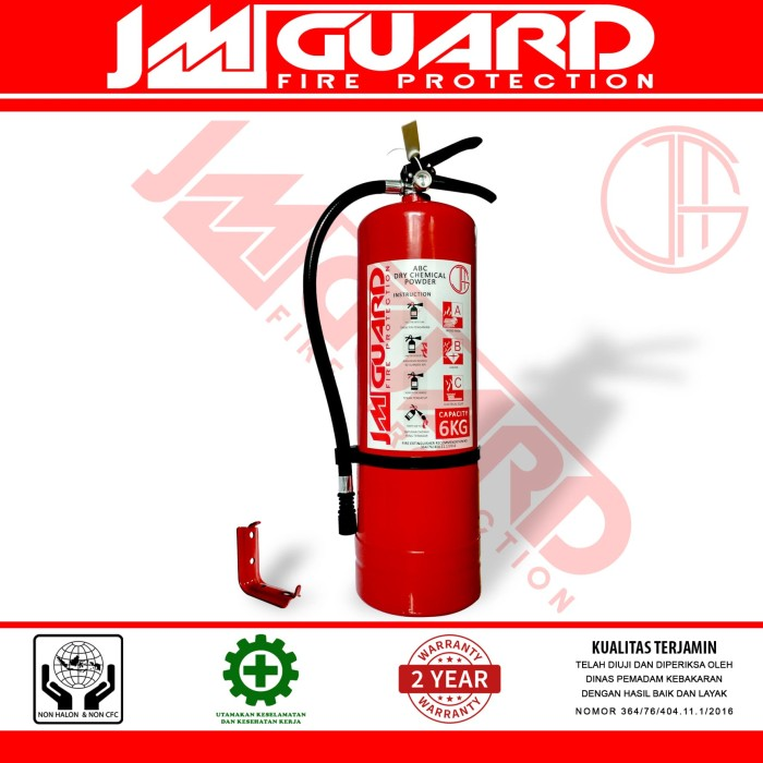 APAR 6kg Dry Powder Alat Pemadam Api Ringan Untuk Pabrik GudangJMGUARD