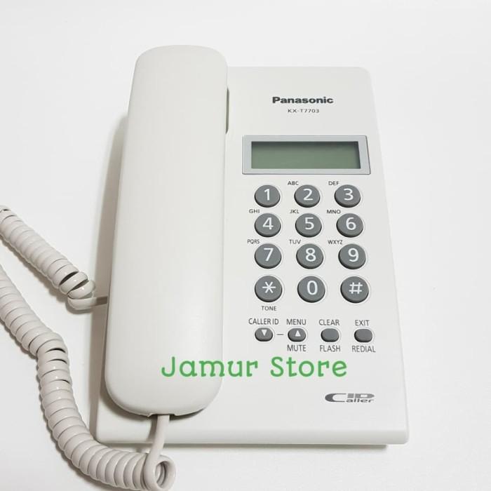 harga Telepon kantor/telepon rumah/telepon kabel panasonic kx-t7703 white Tokopedia.com