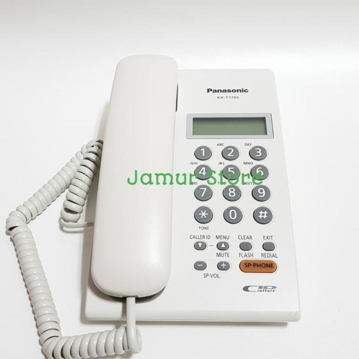 harga Telepon kantor/telepon rumah/telepon kabel panasonic kx-t7705 white Tokopedia.com