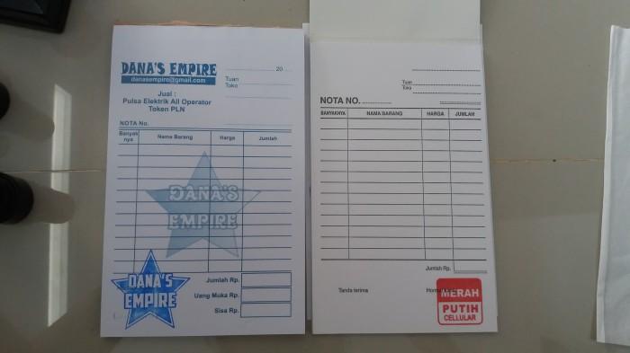 Jual Nota Bon Pulsa Kosong Dengan Stempel Dki Jakarta Danas Empire Tokopedia