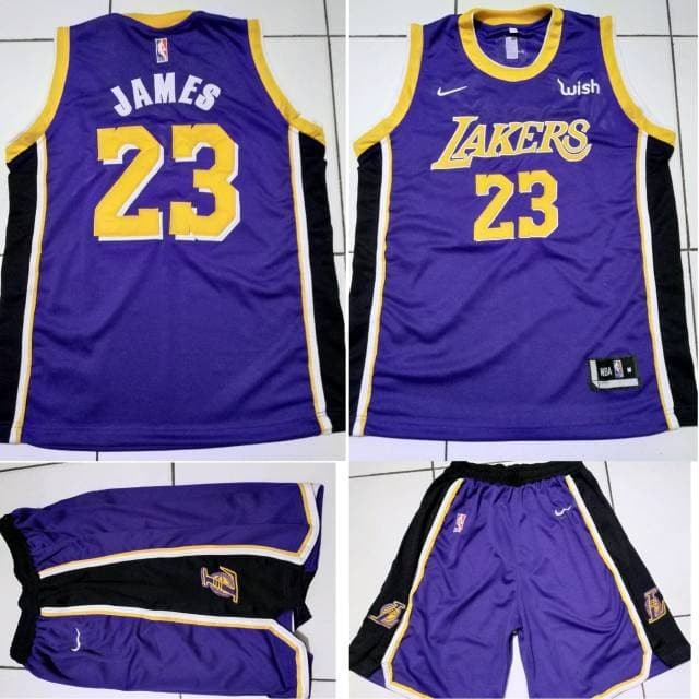 best website 8b88b 526ad Jual Original produk Jersey Basket NBA Lakers Ungu