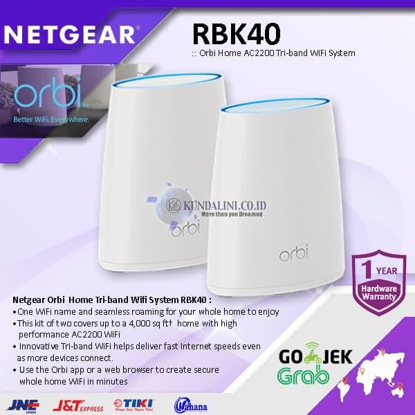 Jual Netgear Orbi RBK40 Home AC2200 Tri-band WiFi System - Jakarta Barat -  Kundalini co id | Tokopedia