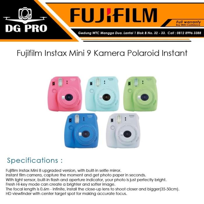 harga Fujifilm instax mini 9 kamera polaroid instant - merah muda Tokopedia.com