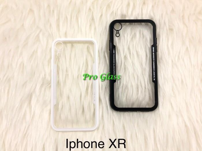 Foto Produk C108 Iphone XR Ultrathin Glass SIlicone Premium Case Softcase dari Pro Glass