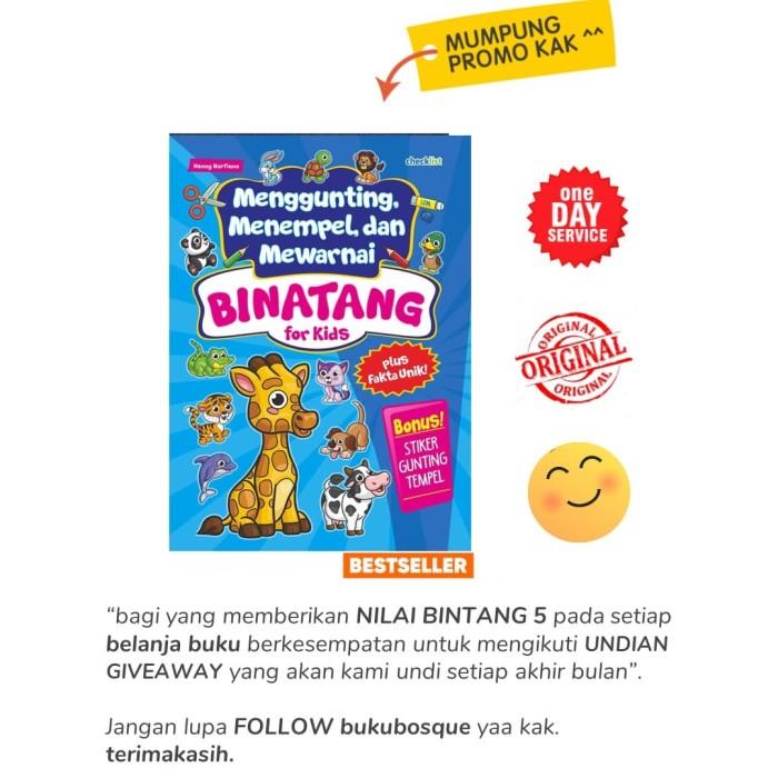 Jual New Binatang For Kids Menggunting Menempel Dan Mewarnai
